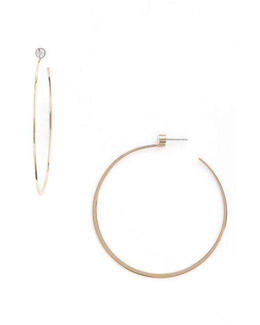 Michael Kors   Metallic Large Hoop Earrings   Lyst