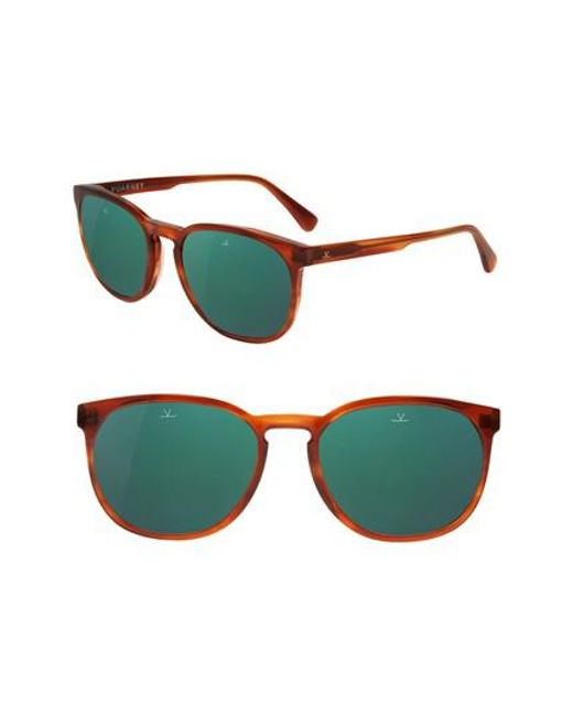 10444c2e6a0 Lyst - Vuarnet District 54mm Sunglasses - Honey Stripes in Green for Men