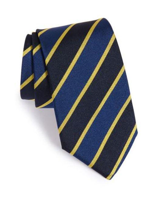 Gitman Brothers Vintage   Blue Stripe Silk Tie for Men   Lyst