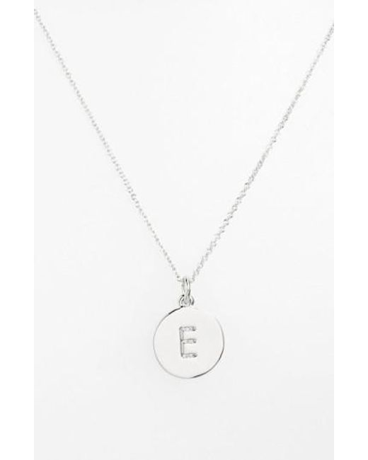 Kate Spade   Metallic 'one In A Million' Initial Pendant Necklace   Lyst