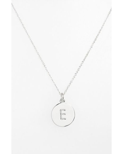 kate spade new york | Metallic 'one In A Million' Initial Pendant Necklace | Lyst