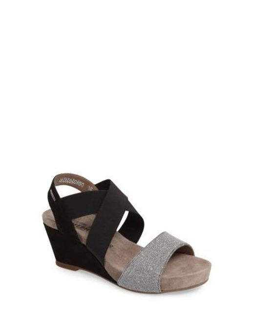 Mephisto | Brown 'barbara' Wedge Sandal | Lyst