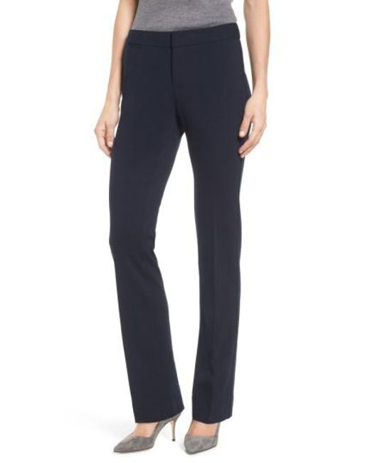 NYDJ | Blue Stretch Knit Trousers | Lyst
