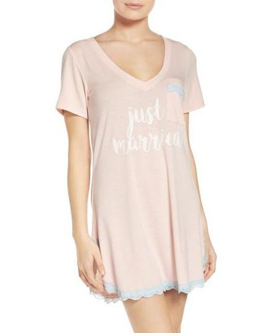 Honeydew Intimates   Pink 'all American' Sleep Shirt   Lyst