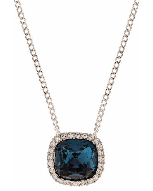 Givenchy - Metallic Crystal Pendant Necklace - Lyst
