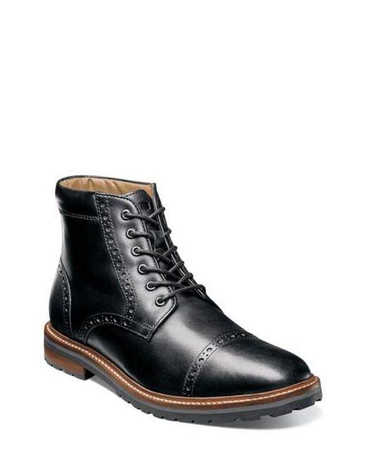 Florsheim | Black Estabrook Cap Toe Boot for Men | Lyst