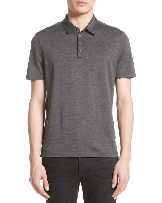 John Varvatos - Black Hampton Silk & Cotton Polo for Men - Lyst