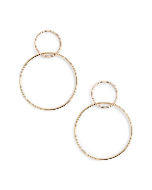 Lana Jewelry - Metallic Two Tone Double Loop Earrings - Lyst