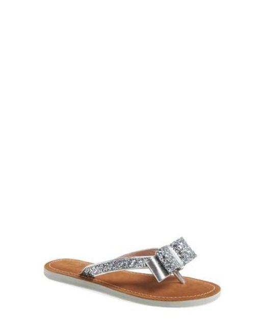 Kate Spade | Metallic 'icarda' Glitter Flip Flop | Lyst