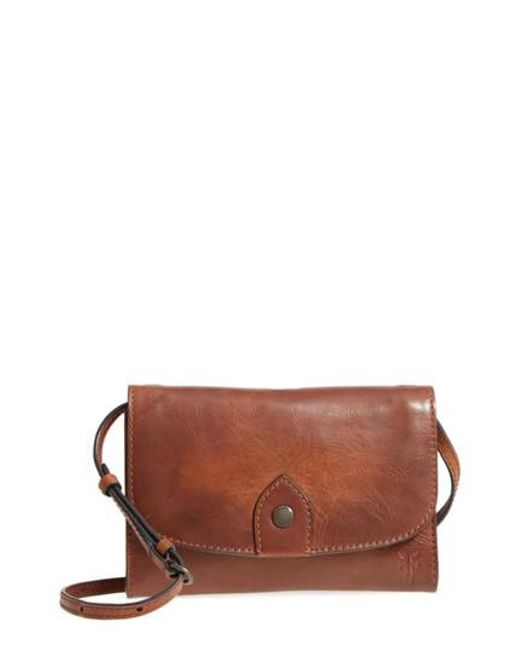 Frye - Brown Melissa Leather Crossbody Bag - Lyst