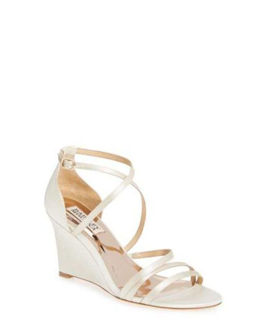 Badgley Mischka | Multicolor Bonanza Strappy Wedge Sandal | Lyst