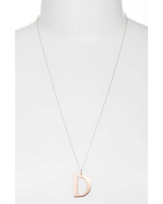 Argento Vivo - Metallic Initial Pendant Necklace - Lyst