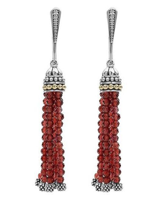 Lagos | Multicolor Caviar Icon Tassel Drop Earrings | Lyst