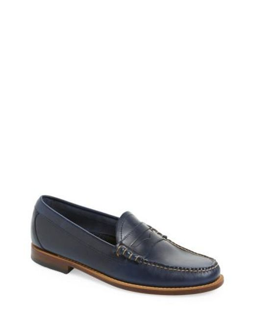 Blue leather loafer G.H. Bass & Co. YDytxvPZ