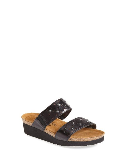 Naot - Metallic 'susan' Sandal - Lyst