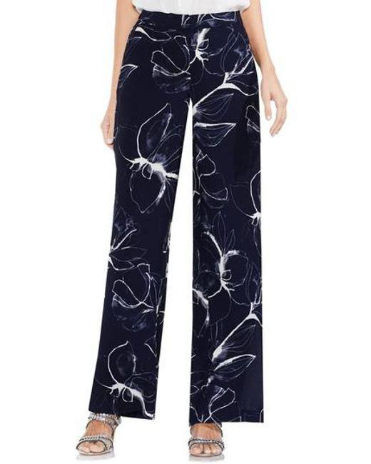 Vince Camuto | Blue Fresco Petals Wide Leg Pants | Lyst