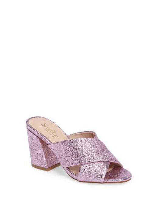 Shellys London | Pink Dani Block Heel Sandal | Lyst