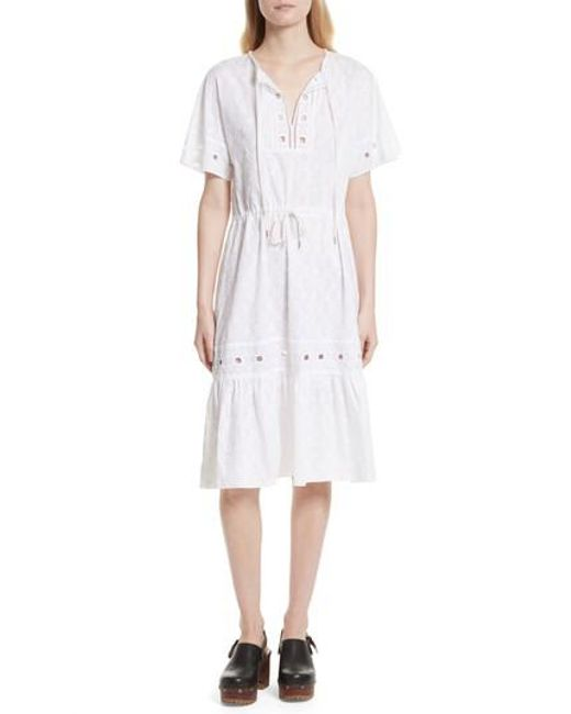 Lace-trimmed cotton dress See By Chlo W6OrNMIOu0