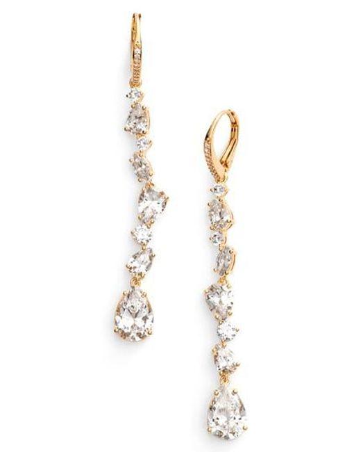 Nadri   Metallic Ava Linear Drop Earrings   Lyst