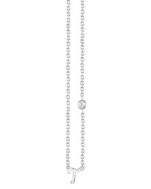 Shy By Sydney Evan | Metallic Diamond Initial Pendant Necklace | Lyst