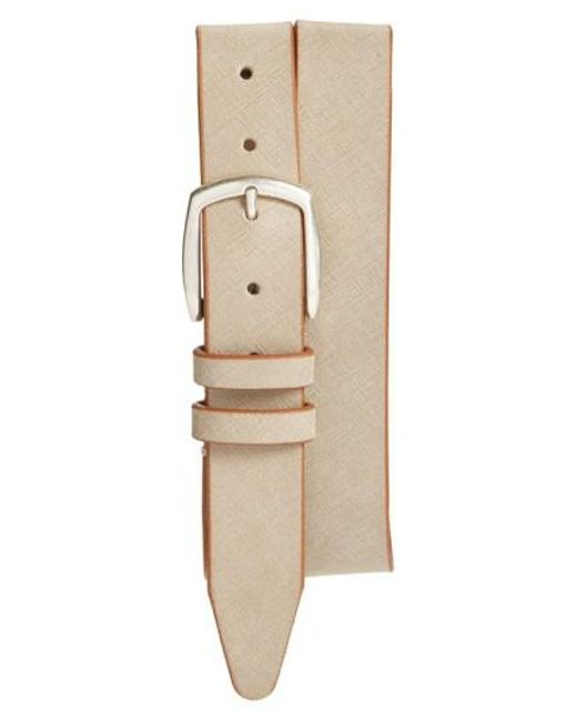 Allen Edmonds - Natural 'hampton Ave' Belt for Men - Lyst