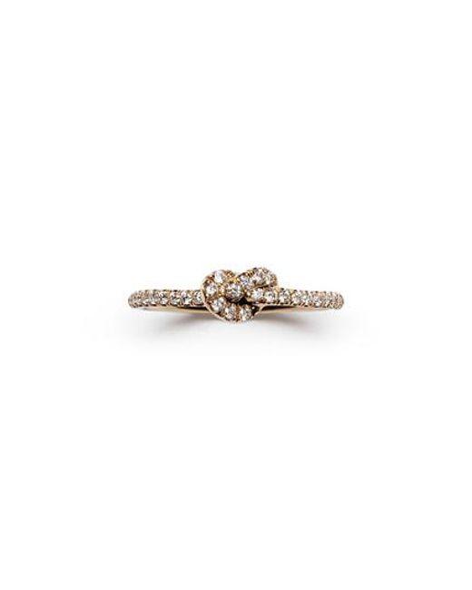 Nora Kogan - Metallic Maiko Pave Diamond Knot Ring - Lyst