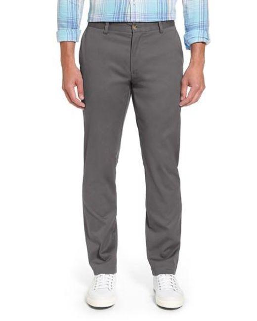 Vineyard Vines | Gray Breaker Flat Front Stretch Cotton Pants for Men | Lyst