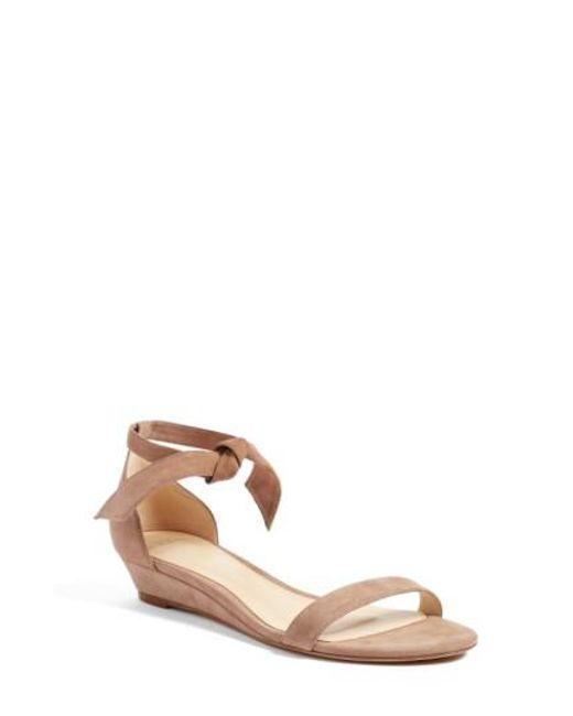 ALEXANDRE BIRMAN Clarita Leather Wedge Sandals