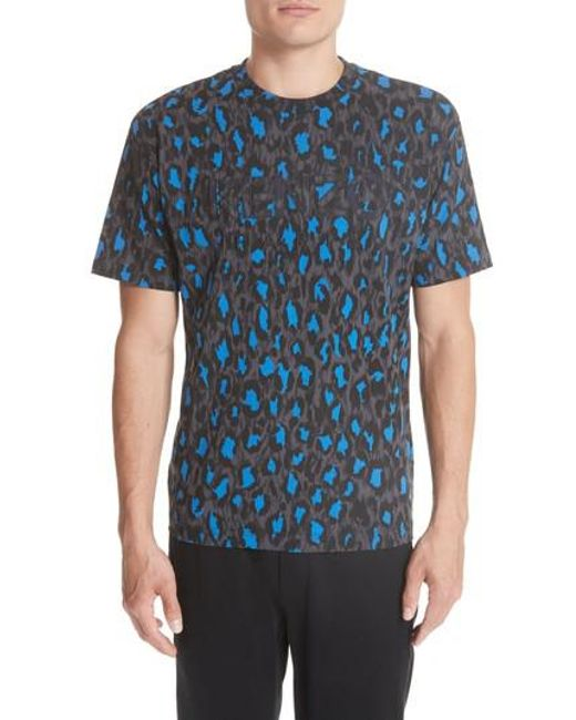 7405f72ad9ef Lyst - Kenzo Straight Leo Print T-shirt in Blue for Men