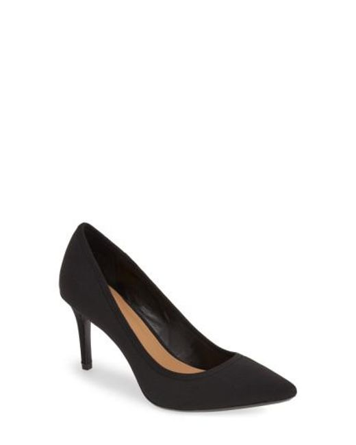 Calvin Klein | Black 'gayle' Pointy Toe Pump | Lyst