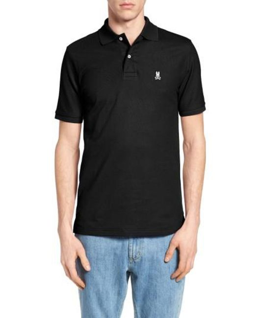 Psycho Bunny - Black Short Sleeve Polo Shirt for Men - Lyst