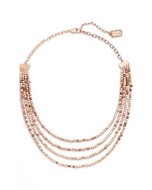 Karine Sultan   Metallic Ava Collar Necklace   Lyst