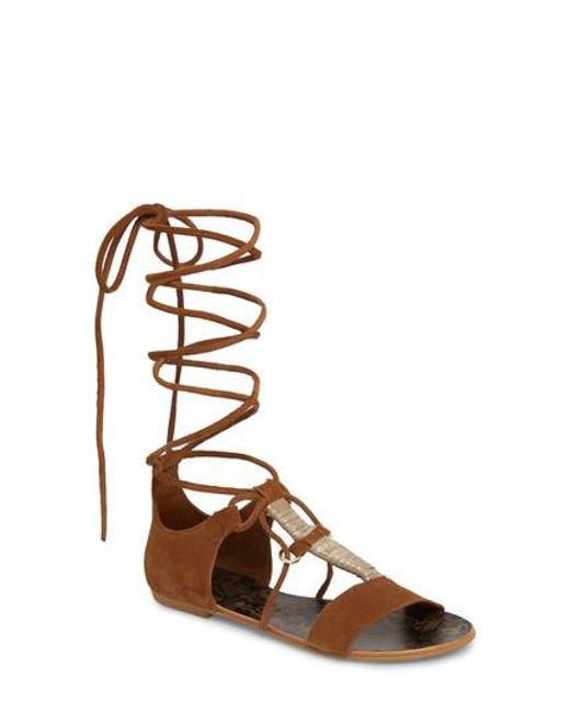 Free People - Brown Fiji Wraparound Sandal - Lyst