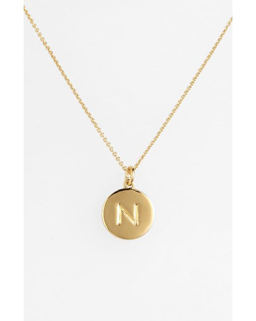 Kate Spade - Metallic One In A Million Initial Pendant Necklace - Lyst