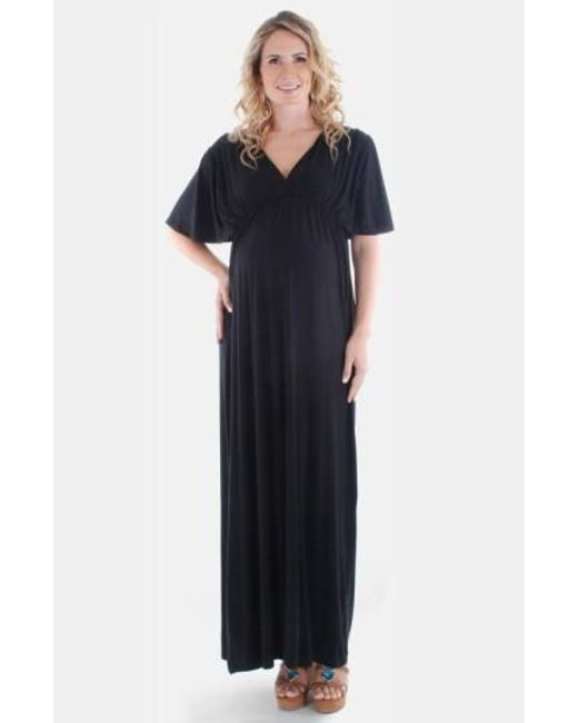 Everly Grey | Black 'goddess' Maternity Maxi Dress | Lyst