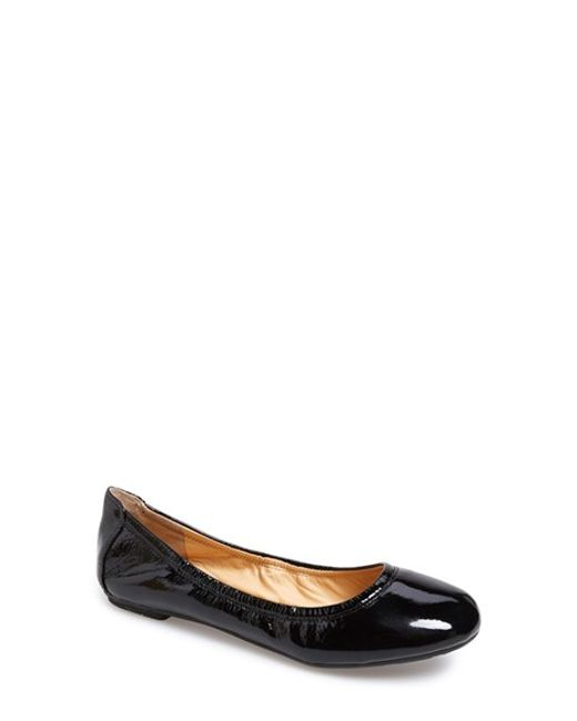 Cole Haan | Black 'manhattan' Leather Ballet Flat | Lyst