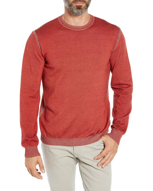 Bugatchi - Red Crewneck Sweater for Men - Lyst