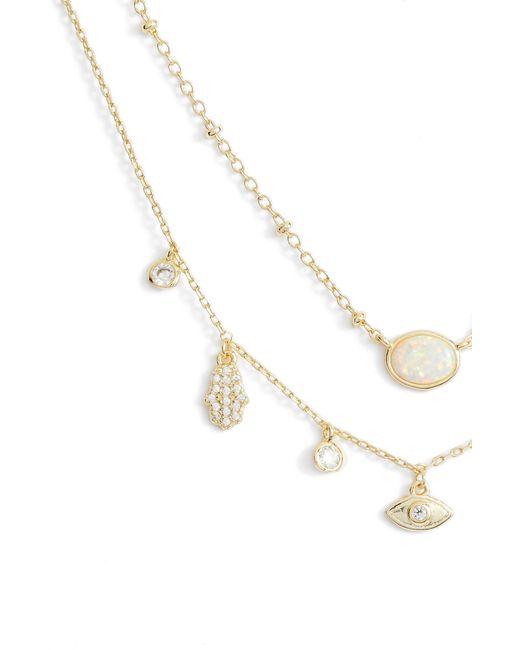 Melinda Maria - Metallic Good Luck Charm Necklace - Lyst