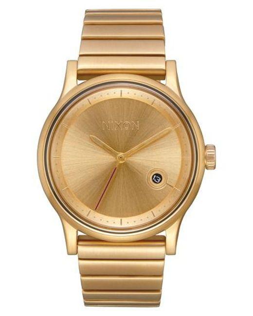 Nixon | Metallic Station Bracelet Watch | Lyst