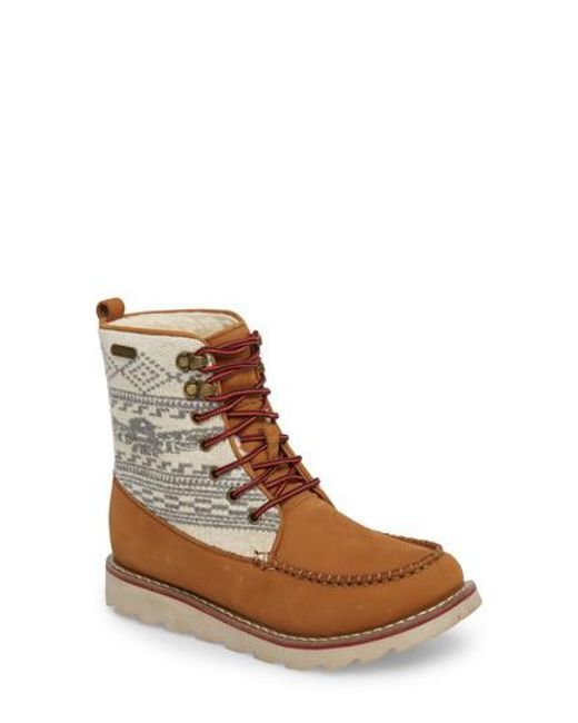 Royal Canadian - Brown Patterned Waterproof Snow Boot for Men - Lyst
