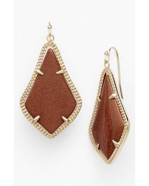 Kendra Scott | Brown Alex Drop Earrings | Lyst