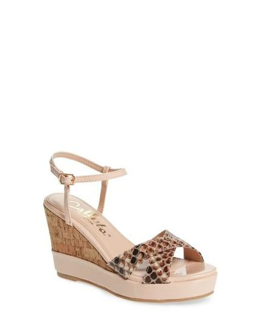 Callisto | Multicolor Lottie Platform Wedge Sandal | Lyst