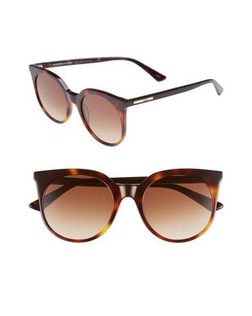 McQ Alexander McQueen - Brown 52mm Cat Eye Sunglasses - Havana - Lyst