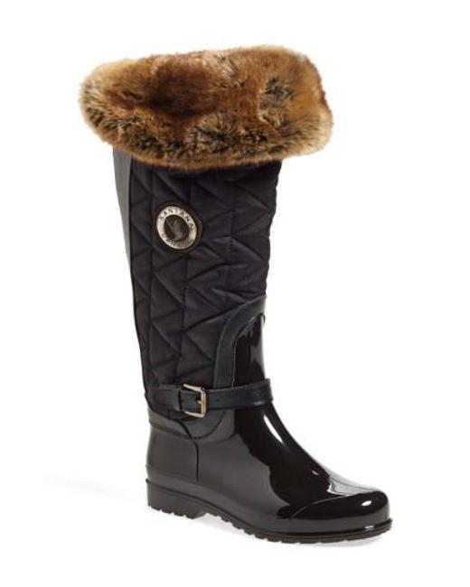Santana Canada   Black 'clarissa' Waterproof Rain Boot   Lyst