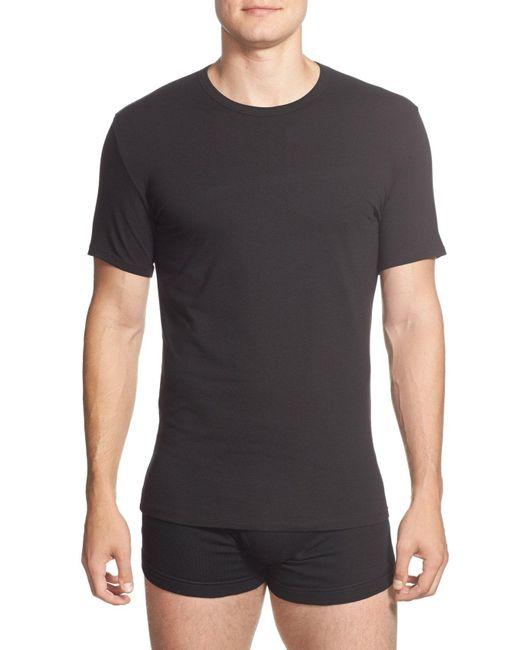 Calvin Klein - 2-pack Stretch Cotton Crewneck T-shirt, White for Men - Lyst