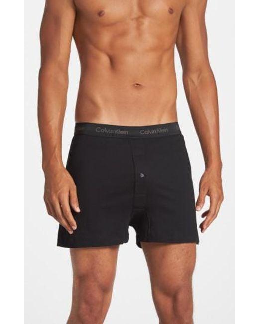 Calvin Klein | 3-pack Cotton Boxers, Black for Men | Lyst