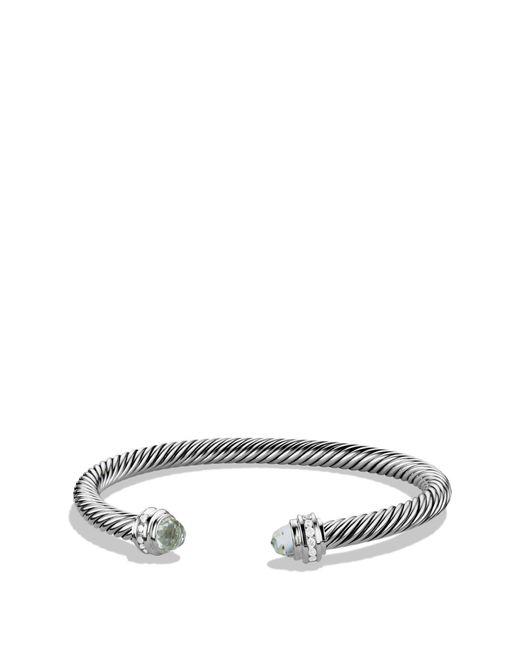 David Yurman - Metallic Cable Classics Bracelet With Semiprecious Stones & Diamonds - Lyst