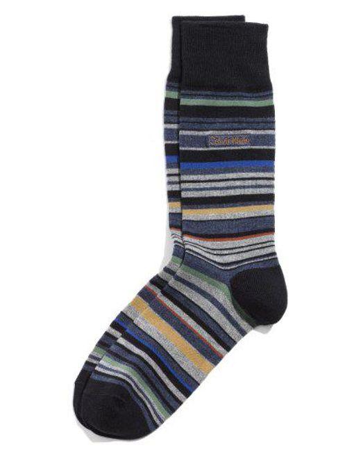 CALVIN KLEIN 205W39NYC - Blue Multistripe Emblem Socks for Men - Lyst