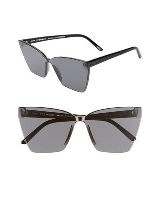 505363e0629 DIFF - Multicolor Goldie 65mm Oversize Rimless Butterfly Sunglasses - - Lyst