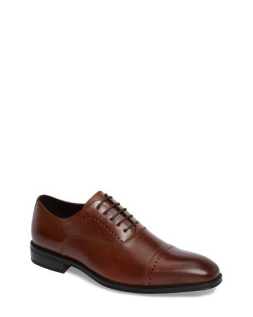 Kenneth Cole | Brown Cap Toe Oxford for Men | Lyst